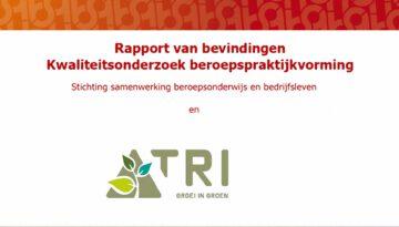 Succesvolle SBB audit bij TRI groei in groen